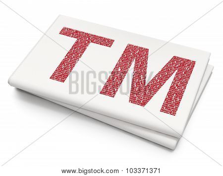 Law concept: Trademark on Blank Newspaper background