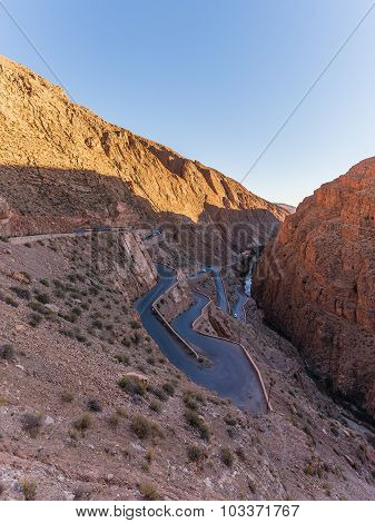 Sunset In Dades Gorge
