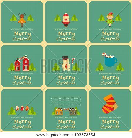 Set Of Mini Christmas Cards