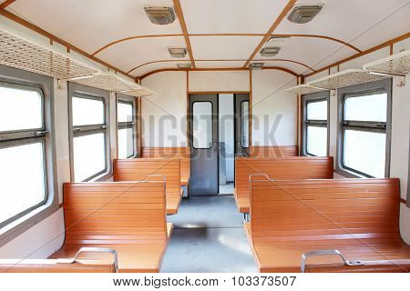 Inside Of commuter electric train