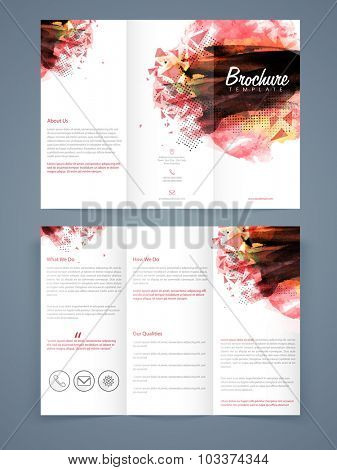 Creative abstract professional Trifold Brochure, Template or Flyer design with two page presentation.