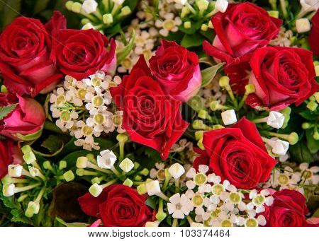 Mixed Boquet With Red Roses