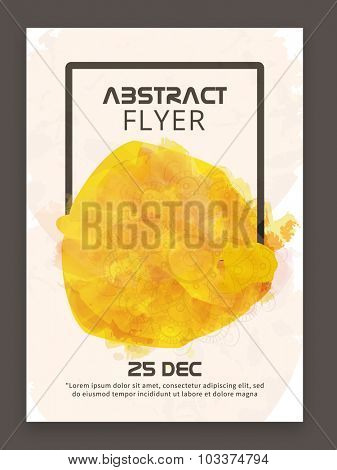 Abstract design decorated stylish flyer, banner or template for your business.