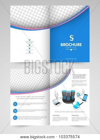 Creative professional Business Brochure, Template or Flyer design with blank space for your image and text.