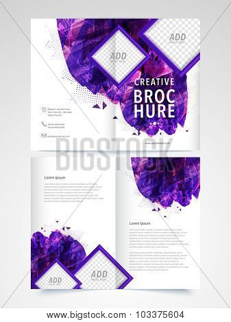 Creative abstract Brochure, Template or Flyer presentation with space to add images for Business or Corporate Sector.