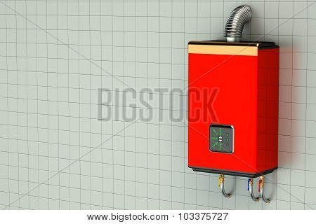 Red Home Gas-fired Boiler Water Heater