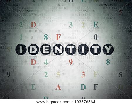 Security concept: Identity on Digital Paper background