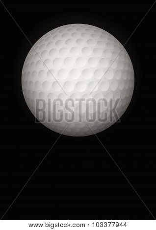 Dark Background of golf ball. Vector Illustration.