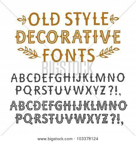 Vintage Hand Written Vector Fonts Set