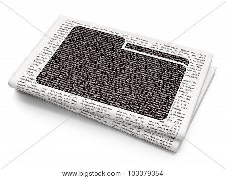 Business concept: Folder on Newspaper background