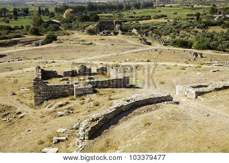 Miletus Ruins, Turkish Milet, High Angle Panoramic View, Turkey