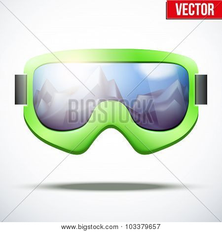 Classic vintage old school snowboarding goggles