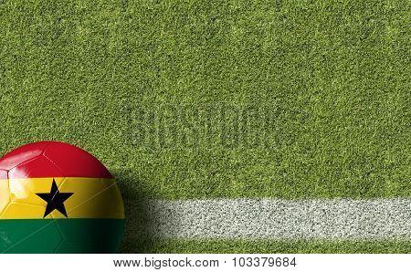 Ghana Ball in a Soccer field