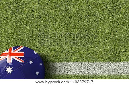 Australia Ball in a Soccer field