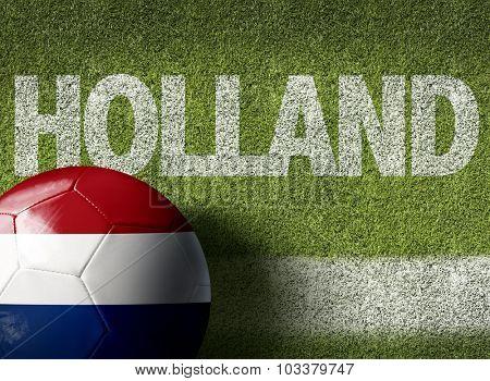 Netherlands (in Dutch) Ball in a Soccer field