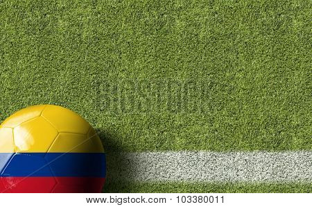 Colombia Ball in a Soccer field