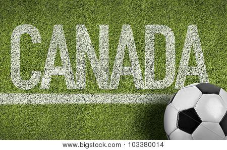 Canada Ball in a Soccer field