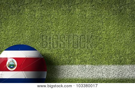 Costa Rica Ball in a Soccer field