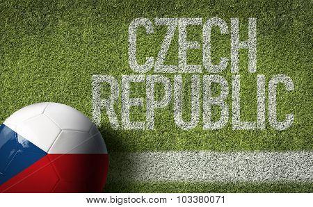 Czech Republic Ball in a Soccer field