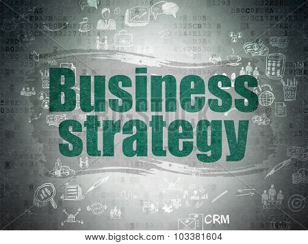 Finance concept: Business Strategy on Digital Paper background