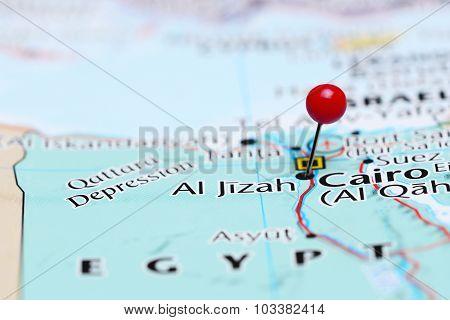 Al Jizah pinned on a map of Asia