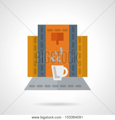 Modern coffee machine vector icon