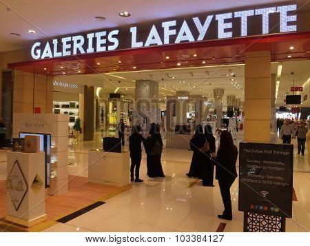 Galeries Lafayette at Dubai Mall in Dubai, UAE