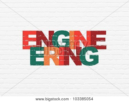 Science concept: Engineering on wall background