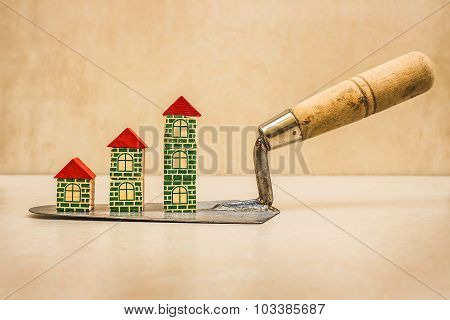 Construction chart and mason trowel