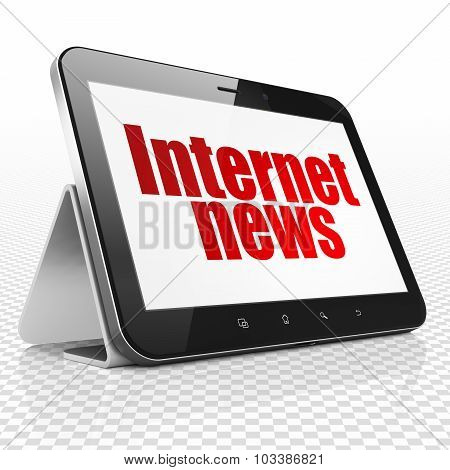 News concept: Tablet Computer with Internet News on display