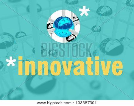 Innovative Concept. Unique Leader Individualist
