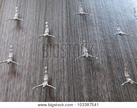Waterfall at Dubai Mall in Dubai, UAE