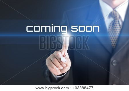 Business man pressing hand Subscribe Now word on virtual screen