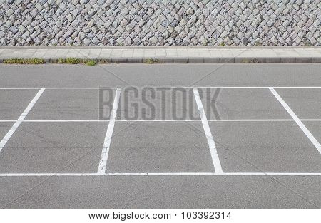 Empty Space in a car parking Lot