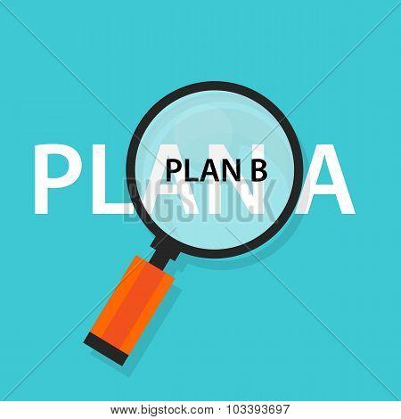 plan a b emergency strategy concept  alternative
