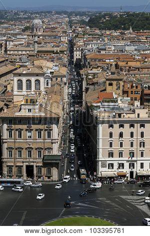 Via Del Corso In Rome, Italy