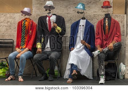 Invisible Men Street Performers