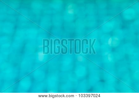 Blue Swimming Pool With Sunny Reflections