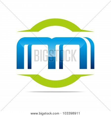 Logo Letter M abstract symbol