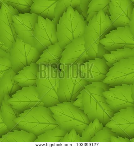 Seamless stylish pattern with green leaves