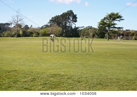 Golf Players On Green
