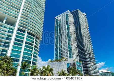 MIAMI, USA - CIRCA MAY 2015: Luxury buildings in Miami, Florida, USA