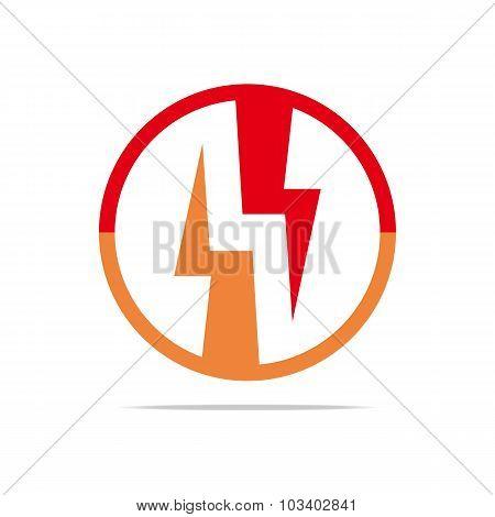 Logo power electricity vector