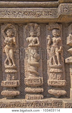 Bas-relieves Of Konark