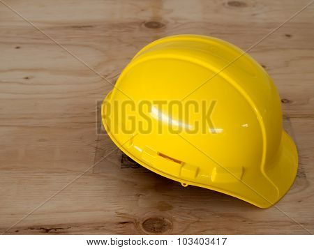 The Yellow Helmet For Safety At The Constructionsite