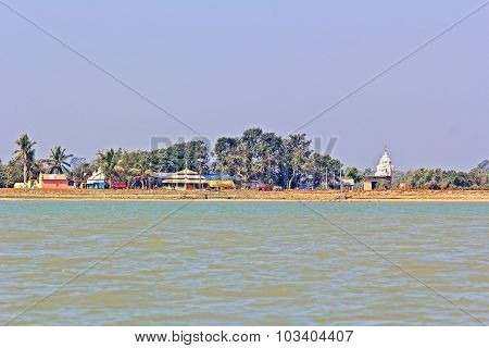 Temples On The Bank Of Chilika
