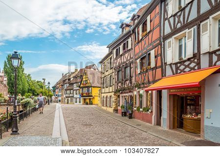In The Streets Of Colmar City.