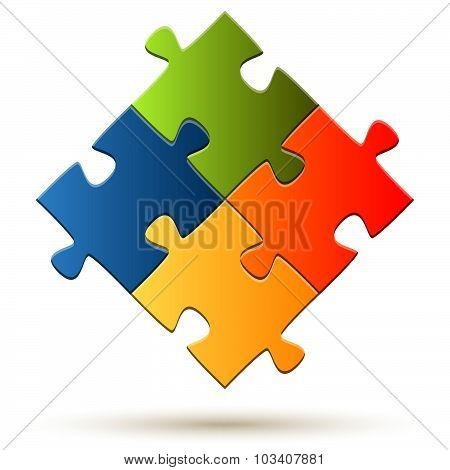 Teamwork Puzzle Parts