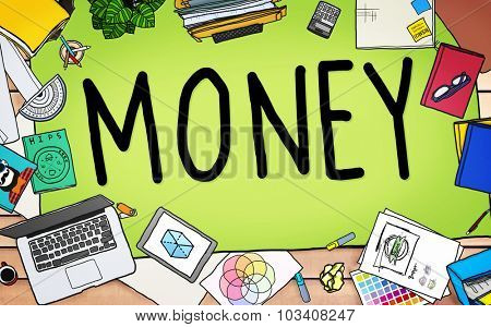 Money Economics Finance Investment Payment Concept