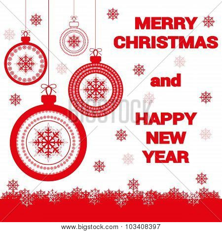 Vector Holiday Banner Happy New Year And Merry Christmas